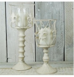 Antique Cream Goblet Style Lantern