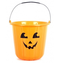 Halloween Pumpkin Treat Bucket 17.5cm