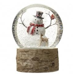 Beautifully designed snowman snowglobe.