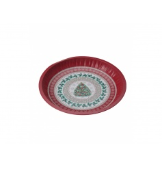 A traditional vintage style festive tray with tree design. Great for display and storage during the festive period.
