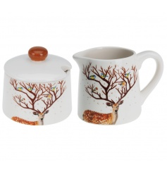 A beautifully illustrated sugar and milk set. A great seasonal gift and kitchenware item.