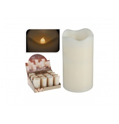 LED light up candle in a classic ivory colour