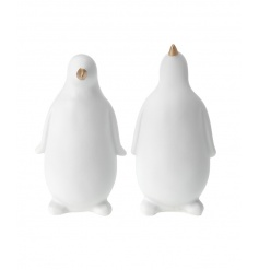Chic and contemporary penguin ornaments making a fabulous home accessory.