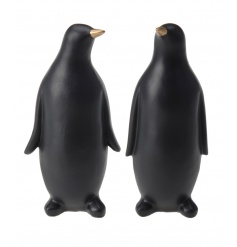 A mix of 2 stunning contemporary penguin ornaments, making a chic accessory for the home.
