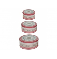 A set of 3 nordic style cake tins, perfect for those festive baking treats!