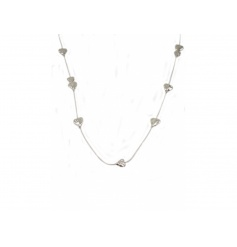 Silver plated necklace with pretty heart detail