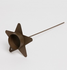 Rustic Looking Star Spike T Light Holder