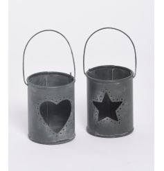 Heart and Star design T light holder