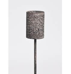 Grey Antique style candle holder garden spike