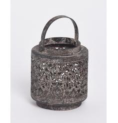 Antique Grey Candle Holder