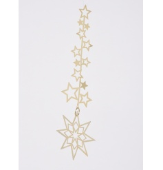 Hanging gold star 21cm hanging decoration