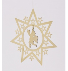 Gold Spinning Star with Hanging Cherub