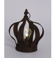 A Rustic Metal Light up Crown