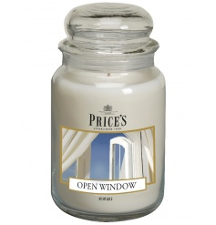 Large candle jar with Open Window scent