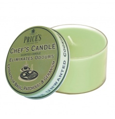Fragranced chefs candle tin from the Prices collection