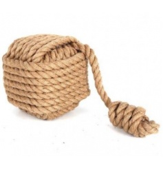A coastal inspired doorstop made with chunky rope. A chic and practical home accessory.