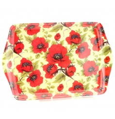 A small tray with a gorgeous poppy design, perfect for use during all seasons.