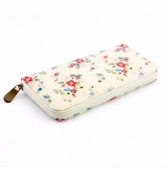 Summer Daisy Zip up Wallet