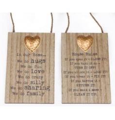 Hanging Metal Heart Plaques