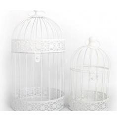 Round White Bird Cages