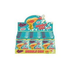 Retro style bubble gun in colourful retro packaging