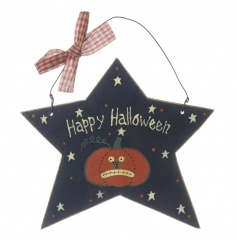 Cool wooden hanging halloween sign