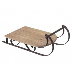 Large Wooden Sledge Decoration