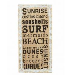 Beach themed plaque