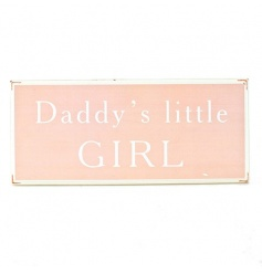 Pink wooden wall sign
