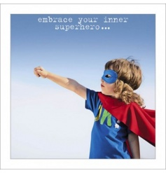 Inner Superhero Greeting Card