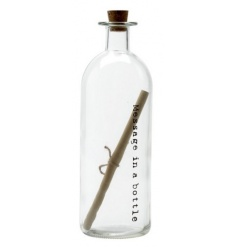 A chic message in a bottle decoration. A charming decorative accessory.