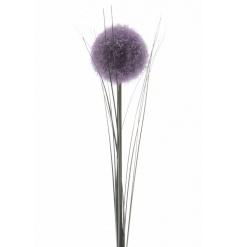 A large, fine quality silk allium on stem. A beautiful lavender coloured floral accessory.