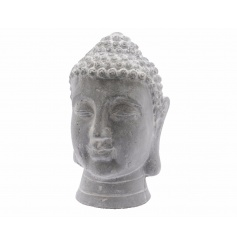 A stylish buddha head ornament. Ideal for home and garden display. The perfect way to make a statement.
