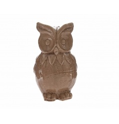 A decorative owl ornament with a natural glazed finish. Compliments many colour schemes.
