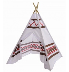 Have hours of fun with this tepee play tent complete with bamboo poles.
