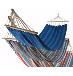 Relax this season with this assortment of 3 cotton hammocks. Each is available in a stylish stripe design.