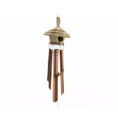 An attractive wind chime decoration with a tropical feel. An ideal gift for the garden.