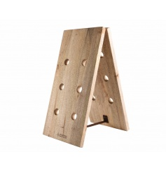 Display your favourite bottles of wine with this natural mango wood wine rack.