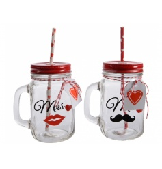 Mr & Mrs Drinking Mason Jars