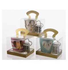 Wonderful gift idea for any occasion! Assortment of mugs come as Mint, Pink and Cream