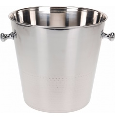 A stylish and classic champagne cooler in stainless steel. The perfect party and entertaining accessory.
