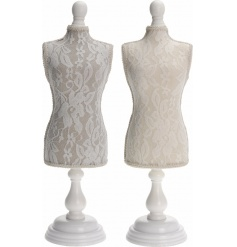 An assortment of 2 chic lace dress dolls, ideal for displaying jewellery.