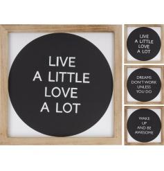 Framed Wooden Slogan Signs, 3a