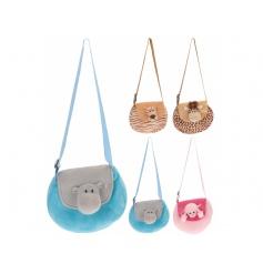Adorable plush soft zoo animal shoulderbag