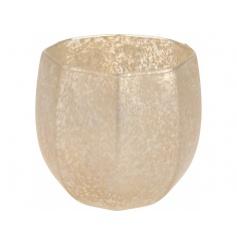 Gold Glass Tealight Holder 11cm