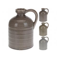 Beautiful cracked styled glazed ceramic vase