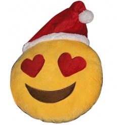 Our top trending emoji cushions are now available with Christmas hats!