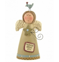 A charming angel decoration with friendship slogan. A lovely gift item for many occasions.
