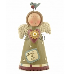 A beautiful angel figure with family slogan. A great sentiment gift for many occasions.