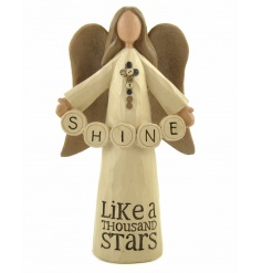 Shine Like A Thousand Stars. A charming angel decoration with a beautiful sentiment.